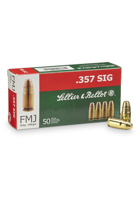 SELLIER & BELLOT 357 SIG FMJ 9,0G S357SIG