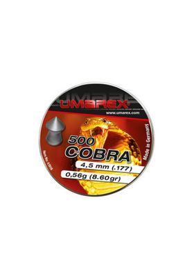 UMAREX 4,5MM COBRA POINTED PELLETS, RIBBED (500PCS)#4.1916