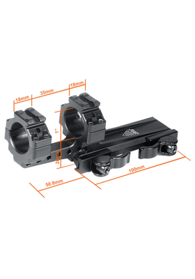 "UTG INTEGRAL QD OFFSET MOUNT 1""W/2 PICATINNY SLOT 35MM MOUNT CLEARANCE 100MM BASE # M1S35070R2"