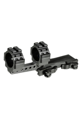 UTG INTEGRAL QD OFFSET MOUNT 30MM W/2 PICATINNY SLOTS 40MM CLEARANCE  # M3S40070R2
