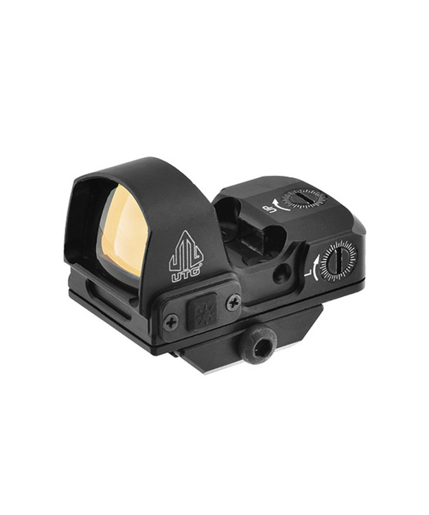 "UTG 2"" MINI REFLEX SIGHT W GREEN SINGLE DOT 4 MOA INTEGRAL MOUNT #SCP-RDM20G picatinny jalalla."